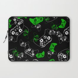 Video Game Black & Green Laptop Sleeve