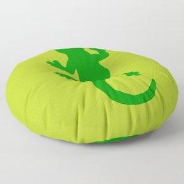Green Lizard Floor Pillow