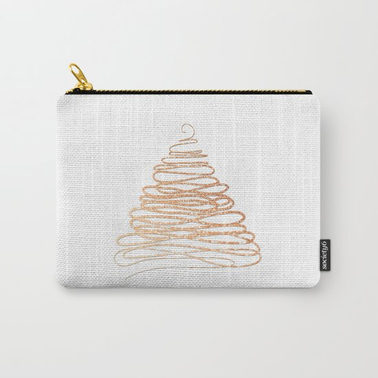 Merry Christmas pink Glitter Christmastree Carry-All Pouch
