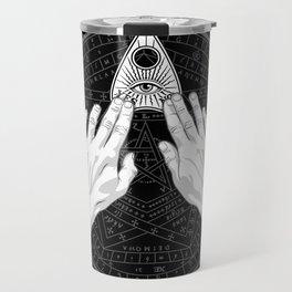 Me & Paranormal You - James Roper Design - Ouija B&W (white lettering) Travel Mug