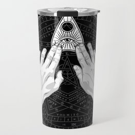 Me & Paranormal You - James Roper Design - Ouija B&W (white lettering) Travel Mug