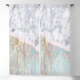 Whimsical marble fantasy Blackout Curtain