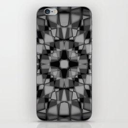 Dark kaleidoscope pattern iPhone Skin