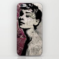 audrey iPhone & iPod Skins featuring Audrey by f_e_l_i_x_x