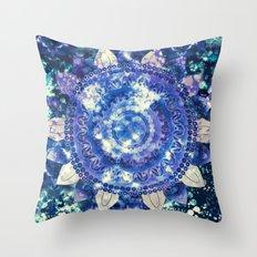 Boho Grape Fizz Mandala Throw Pillow