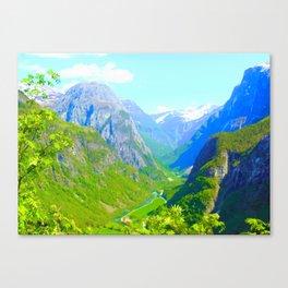 Norwegian Valley Canvas Print