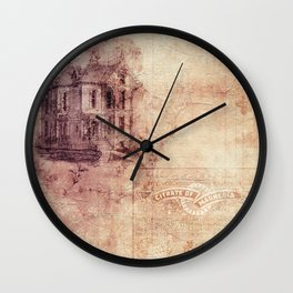 Old Antique Vintage Paper Texture Wall Clock