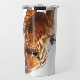 Silly Giraffe // Wild Animal Portrait Cute Zoo Safari Madagascar Wildlife Nursery Ideas Decor Travel Mug