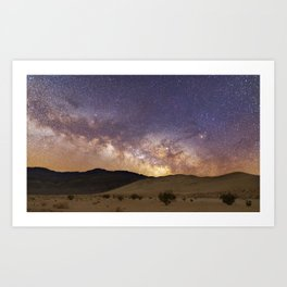Dunes under the Milky Way Art Print
