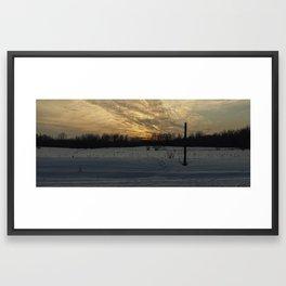 Panoramic Sunset Framed Art Print