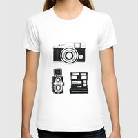 cameras T-shirts featuring Three cameras. by WEUSEDTODANCE