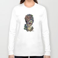 fitzgerald Long Sleeve T-shirts featuring Marie de los Muertos by Cathy FitzGerald