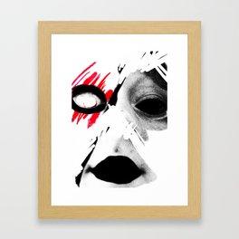 Blank Face Framed Art Print