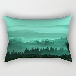 My road, my way. Turquoise. Rectangular Pillow