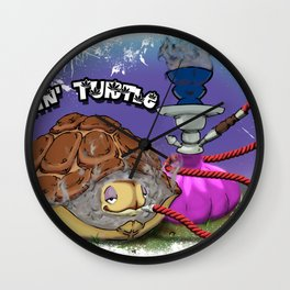 Tokin' Turtle Wall Clock