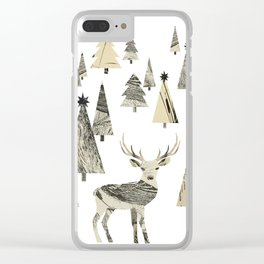 Winter Woods, collage Clear iPhone Case