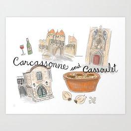 Cassoulet in Carcassonne, France Art Print