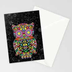Owl Zentangle Floral   Stationery Cards