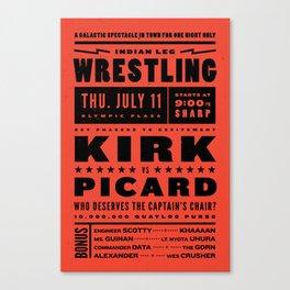 Kirk vs Picard Canvas Print
