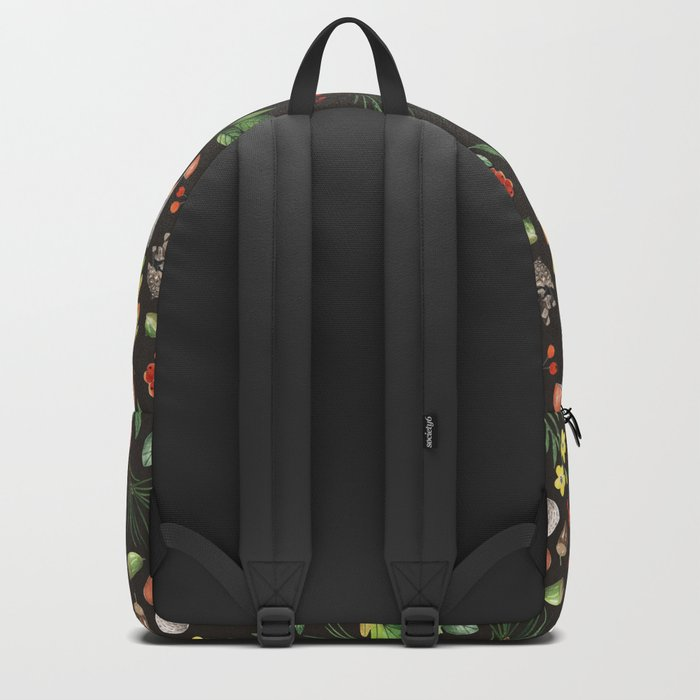 Forest. Brown pattern Backpack