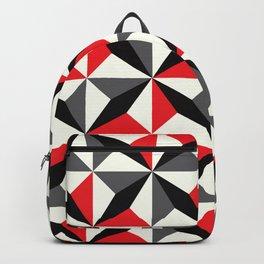 Geometric Pattern 25 (black red diamonds) Backpack
