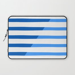Beach Stripes Blue Laptop Sleeve