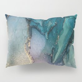Pour your art out in sea green Pillow Sham