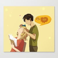 grantaire Canvas Prints featuring Enjolras et Grantaire by Sarlyne