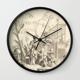 Grisaille Chinoiserie Wall Clock
