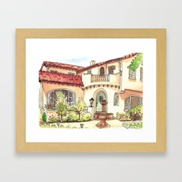 California Residence Framed Art Print