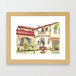 California Residence Framed Art Print