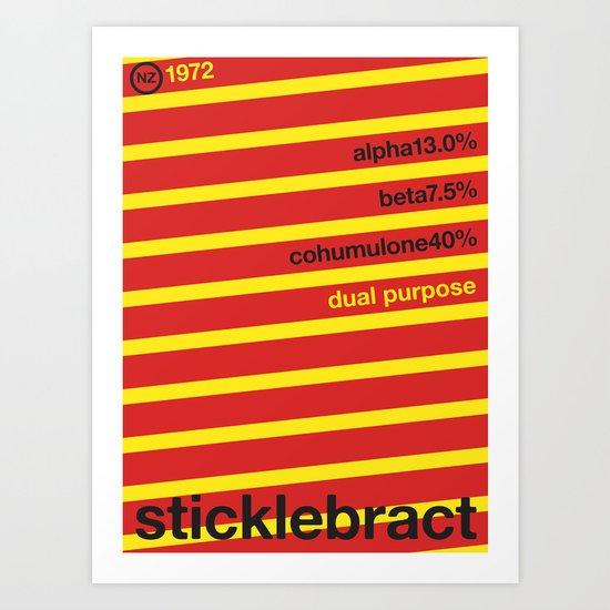 sticklebract//single hop Art Print