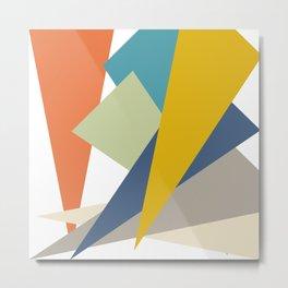 Retro shapes Metal Print