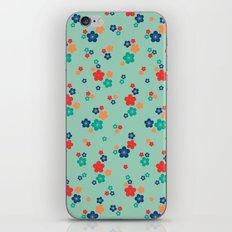 blossom ditsy in grayed jade iPhone & iPod Skin