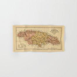 Map of the island of Jamaica (1893) Hand & Bath Towel