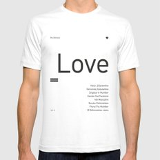 Valentine's gift. Love White SMALL Mens Fitted Tee