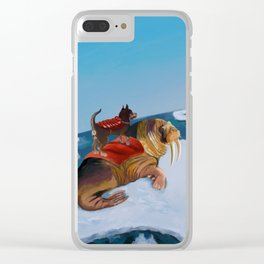 Princess Bitey vs. King Headlump Clear iPhone Case