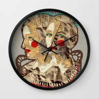 girls Wall Clocks featuring Girls by R. Gorkem Gul
