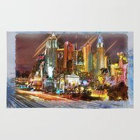 las vegas Area & Throw Rugs featuring Vegas by Robin Curtiss
