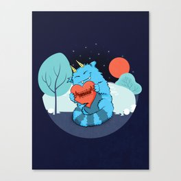 Rawrmeo, the Cuddly Happy Chaos Monster Canvas Print