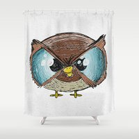 owls Shower Curtains featuring Owls by Conrad