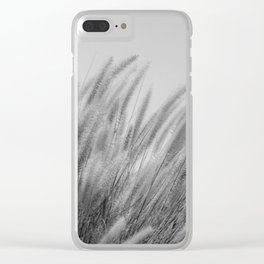 Foxtails on a Hill in Black and White Clear iPhone Case