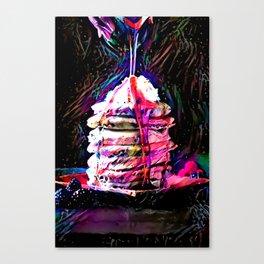 Portrait of Neon Pancakes Canvas Print