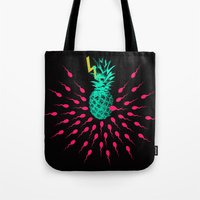pineapple Tote Bags featuring Pineapple by mark ashkenazi