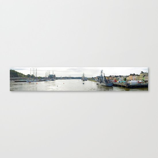 Tall Ships Race Waterford 2011 - Day 1 Panoramic  Canvas Print