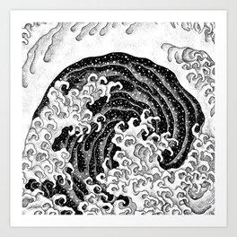 HATCH vs Hokusai: Waves (Feminine) Art Print