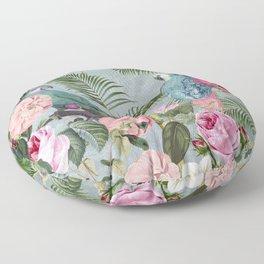 Parrots Jungle Rendevous Floor Pillow