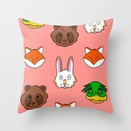 Peach KRFT Throw Pillow
