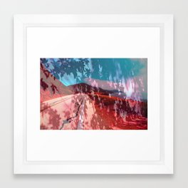 Distorted Hilltops #4 Framed Art Print