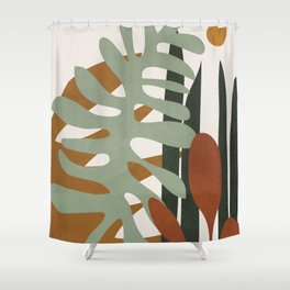 Abstract Plant Life III Shower Curtain